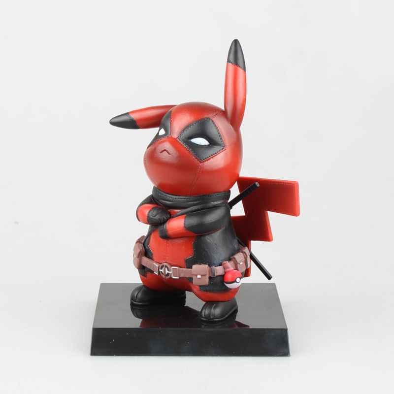 Pikachu Cosplay Deadpool Marvel X-Men 14 Action Figure Boneca de Brinquedo cm