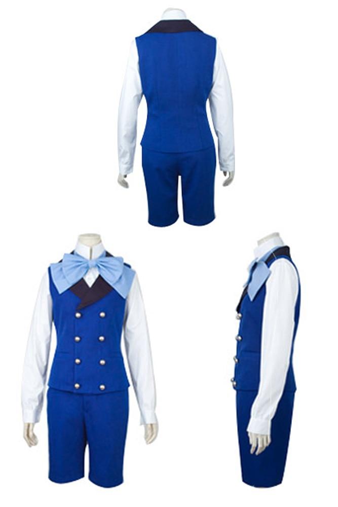 Hot Black Butler II 2 Cosplay Costume Ciel Phantomhive Blue Uniform Cosplay Costume