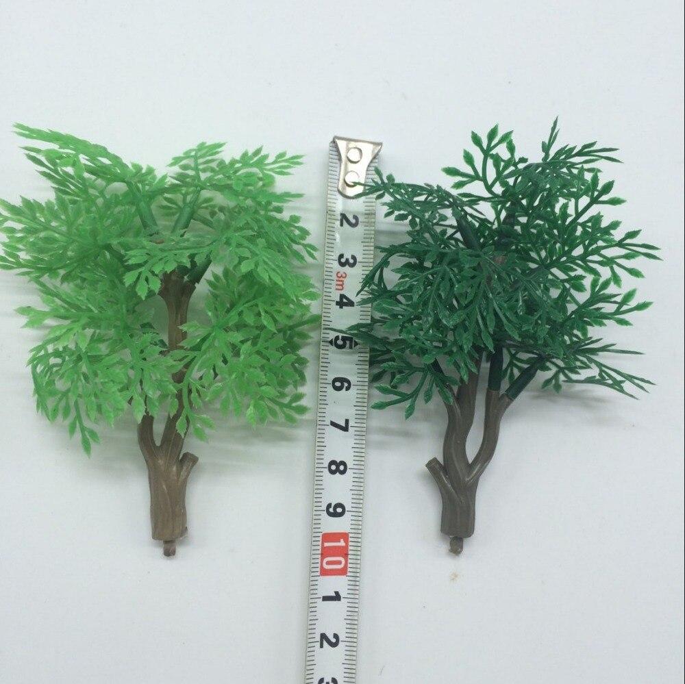 1 unids acuario paisaje planta Artificial paisajismo 9 cm hoja de palma grande W