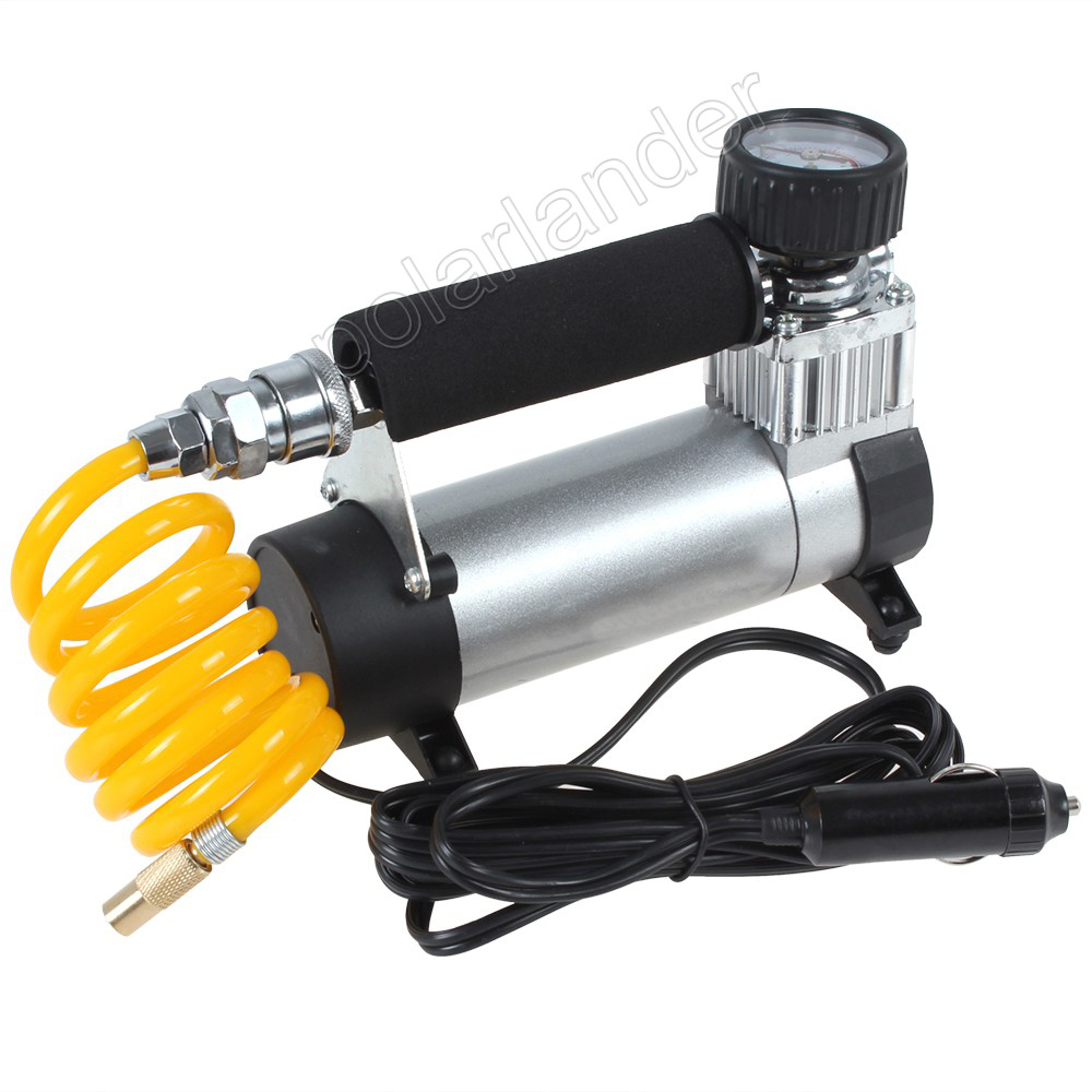 12 V Portable gonfleur de pneu Super débit voiture pompe compresseur d'air 100PSI haute qualité Auto