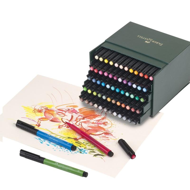 FABER CASTELL 60 Color Soft Head Mark Pen 24 Color 48 Color PITT Fine Art Watercolor Pen Head