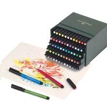FABER CASTELL 60 renk yumuşak kafa işaret kalemi 24 renk 48 renk PITT güzel sanatlar suluboya kalem kafa