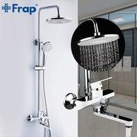 Frap Смесители для ванной и душа набор осадков Душевая Головка краны Ванна Носик настенный кран для ванной смеситель для душа grifo ducha F2441