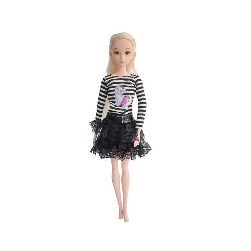 5 Pcs lot Kualitas Tinggi Buatan Tangan Modis Pakaian Boneka Gaun untuk 12  Inch Dolls Hadiah Ulang Tahun Mainan untuk Anak di Boneka dari Mainan    Hobi ... f1c672276e