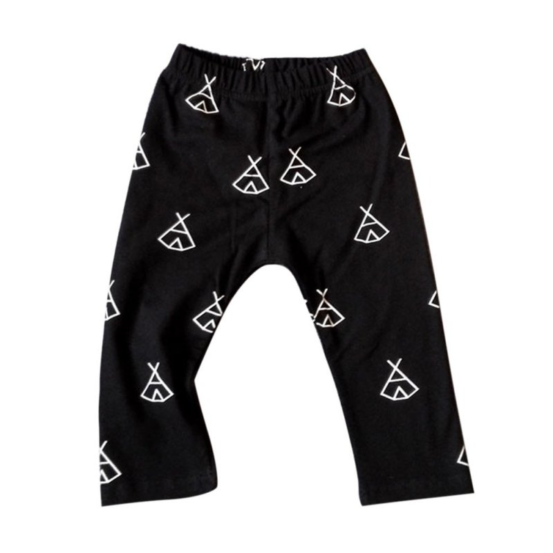 Kids Elastic Waist Cotton Leggings Spring Autumn Clothing Baby Boys Girls Unisex Print Pants Casual Trousers