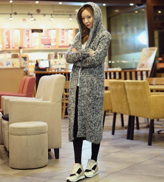 Free Shipping Grey Women Winter Long Sweater Dress Long Knit ...