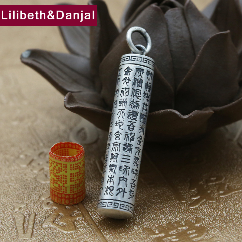 Buddha Pendant 100% Real S990 Sterling silver Jewelry Men  Heart Sutra Scripture lucky Peace Box Necklace Pendant 2018 P67Buddha Pendant 100% Real S990 Sterling silver Jewelry Men  Heart Sutra Scripture lucky Peace Box Necklace Pendant 2018 P67