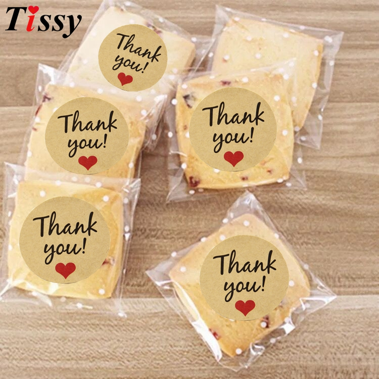 Thank You Gifts At Weddings: 120PCS Thank You Kraft Stickers Paper Gift Tags Wedding