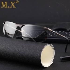 4ace682c64e Rimless Driving Photochromic Sunglasses Men Polarized Chameleon  Discoloration Sun glasses for men oculos de sol masculino