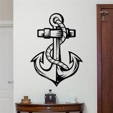 Anchor Wall Decal Sea Ocean Vinyl Sticker Marine Nautical Bathroom Decor Art Kids Boy Room