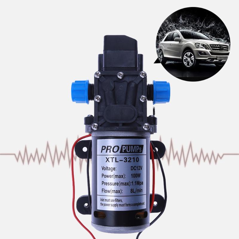 Micro pompe à eau haute pression lavage de voiture pompe à diaphragme électrique commutateur automatique 3210YB 12 V 100 W 8L/min grande pompe de débit