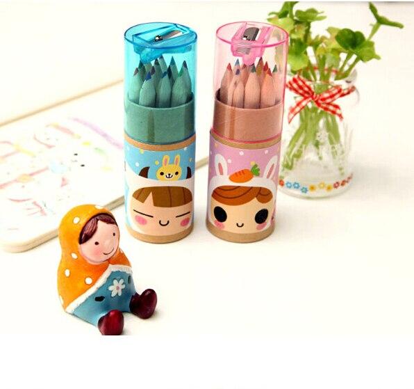 product B38 12 Colors Cute Dressmaker Colored Pencils School Supplies Stationery Colorir Marco Raffine Articulos De Papeleria