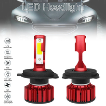 цена на 2pcs Q1 LED Headlight H4 9003 HB2 Q1 12000LM 6000K 120W COB LED Car Headlight Kit Hi  Lo Light Bulb car accessories for Cars