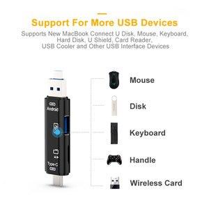 Image 4 - Lecteur de carte Micro USB avec carte TF adaptateur de carte mémoire intelligente OTG pour MacBook ordinateur portable USB 3.1 Type C Cardreader lecteur de carte SD