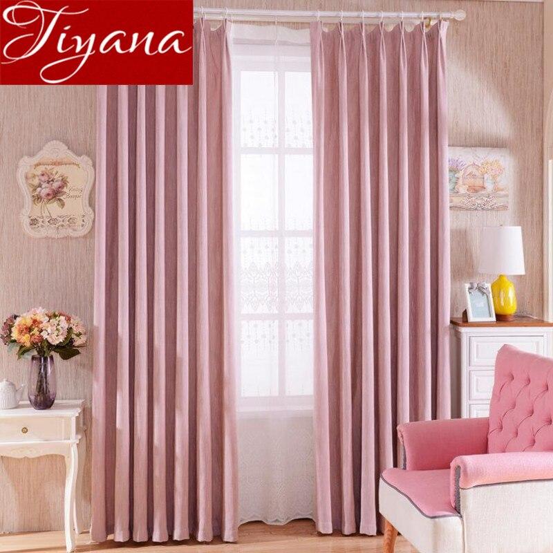 cortinas de color rosa bordado modernas cortinas de voile sheer cortinas de tela cortinas de ventana