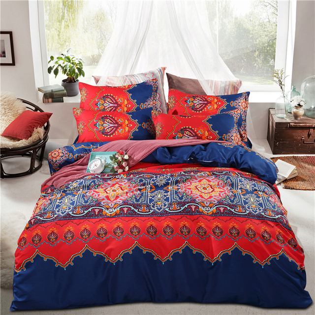 size cover king queen duvet bohemian sets sheets quilt boho bedding cotton bed luxury covers