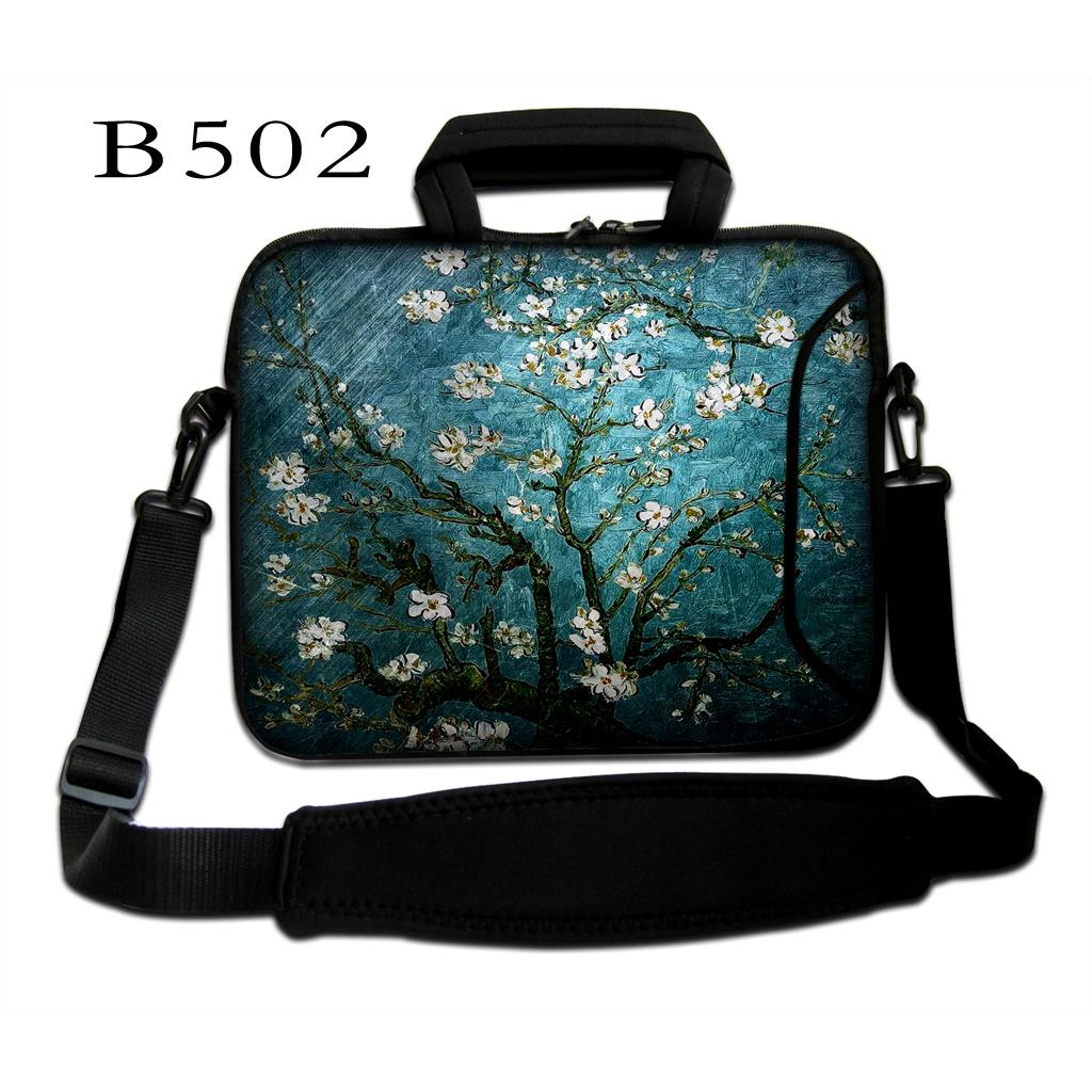 Flower Netbook Laptop PC Handle Bag Sleeve Case Cover With S