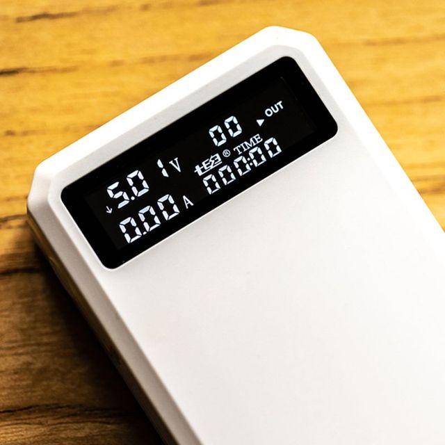 Podwójny USB QC 3.0 + typ C wyjście PD 3x18650 baterie DIY Power Bank pudełko szybka ładowarka do ładowarki komórkowy tablet z funkcją telefonu PC