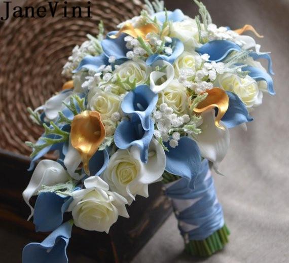 Vintage Wedding Flower Bouquets: Aliexpress.com : Buy JaneVini Vintage Artificial Blue
