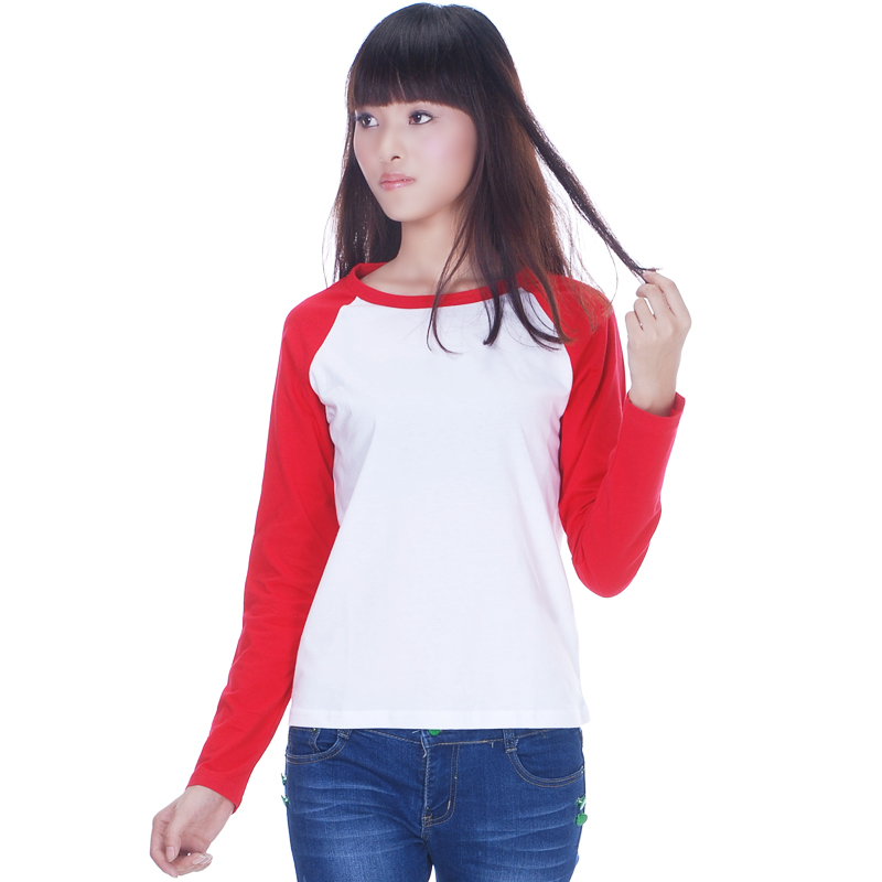 e62f947d0e78 Sports T shirts For Women Raglan Black Blue Bed Long Sleeve White Tee Shirts  Female Blank Baseball 100% cotton T shirt M L XL-in T-Shirts from Women s  ...