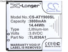 Cameron Sino 3800mAh Battery TLi036A1 for Alcatel One Touch Link 4G+, 4G+ LTE, Y900, Y900NB