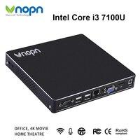 Mini PC Intel Core i3 7100U 7130U Dual core Fan HDMI VGA Dual display Windows/Linux Desktops Computer DDR3 8G SSD 256G Nettops