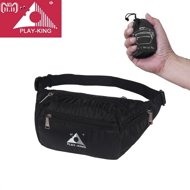 PLAYKING Sport Running Bag Waterproof Foldable Waist Bag Fanny Pack For Men Women Jogging Belt Gym Fitness Sport Accessories