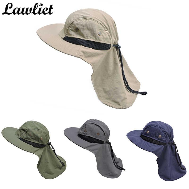 0db7f867559390 ... New Brand Chapeau Sun Hat for Man Sunshade Fishing Bucket Hat Summer  Hat Climb Mountain Jungle