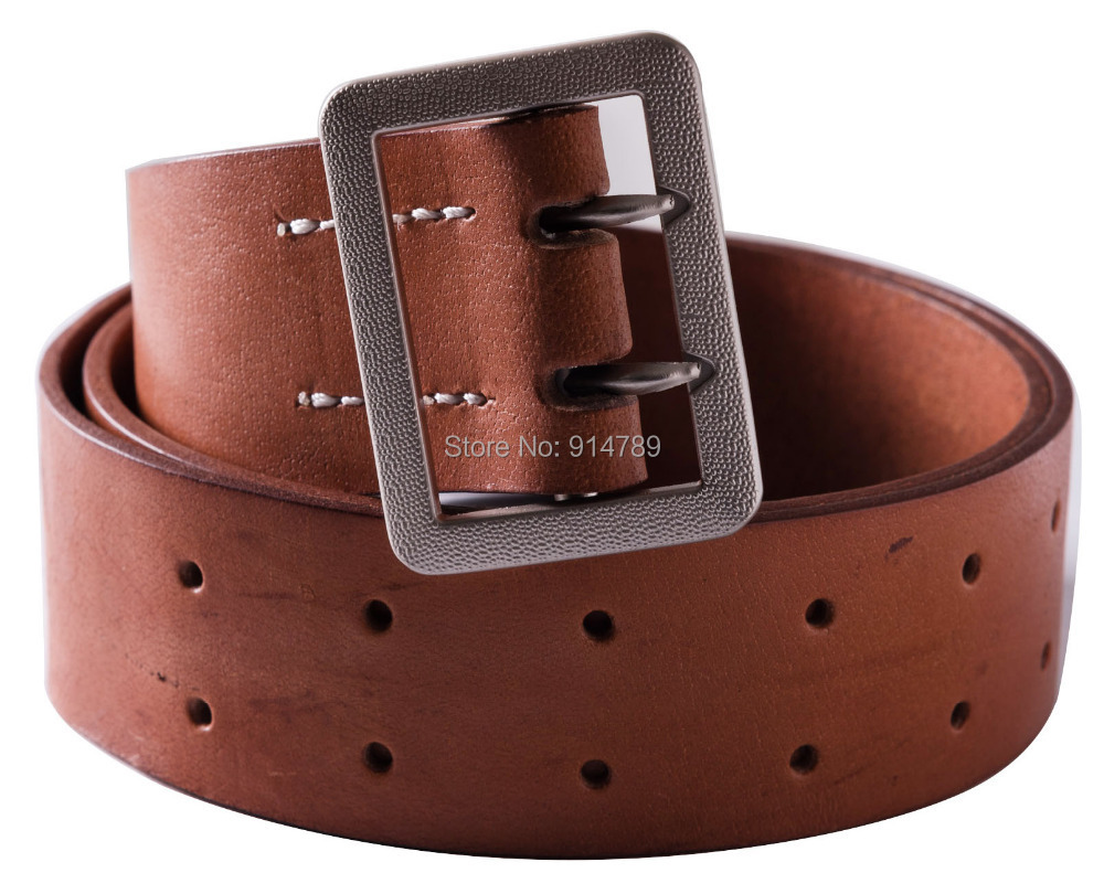 WWII GERMAN OFFICER DOUBLE CLAW BROWN BELT HOLE SIZE S 30-35 -35812 ...