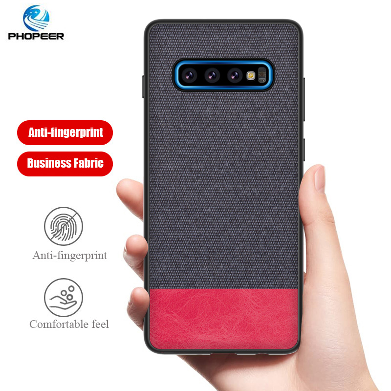 PHOPEER Case for Samsung S10 S 10 Plus case Soft edge fabric cloth protective cover for Galaxy S10E S10 E Case in Fitted Cases from Cellphones Telecommunications