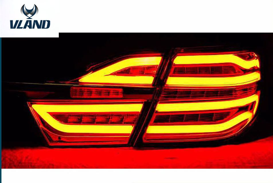 Free shipping Vland factory  auto car accessory for  camry LED tail light 2015 2016 LED tail lamp plug and play free shipping vland factory car parts for camry led taillight 2006 2007 2008 2011 plug and play car led taill lights