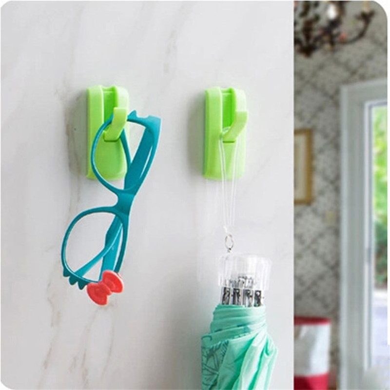 Home Strong Adhesive Storage Hook Punch-free No Trace Can Be Hidden Behind The Door Hook Key Umbrella Bag Hat Organizers Holder