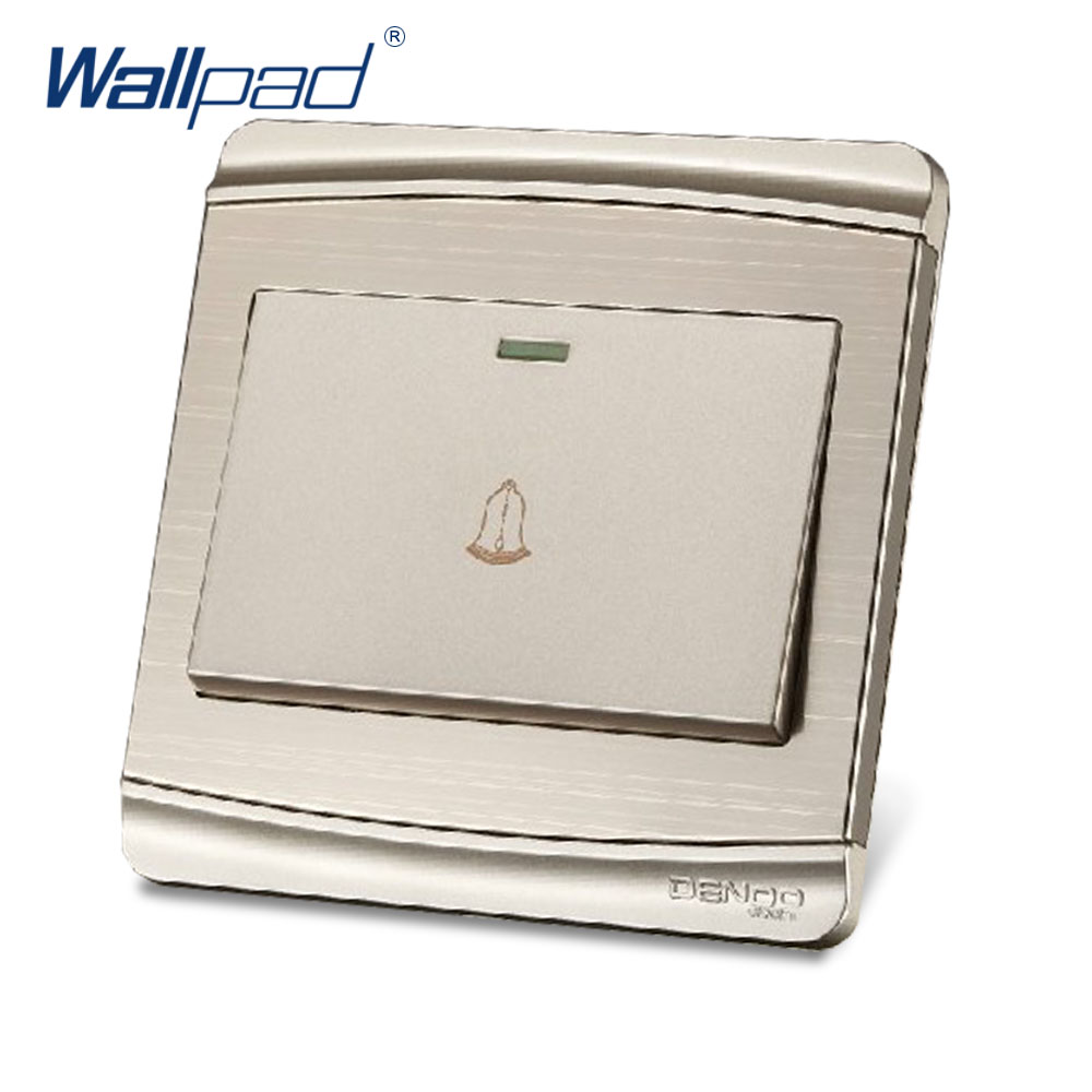 DoorBell Switch 2017 Hot Sale China Manufacturer Wallpad Luxury Push Button Wall Light Switch double computer socket free shipping hot sale china manufacturer wallpad push button luxury arylic mirror panel wall