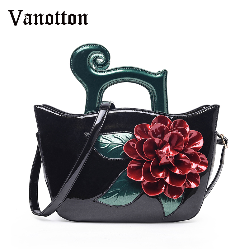 2018 High Quality Luxury Designer Tote Bags Pu Leather Handbags with A 3D Flower Bags Famous Brands Shoulder Messenger Bags nnew fashion women shoulder bags casual tote messenger bags famous designer pu leather high quality ladies handbags tfd171