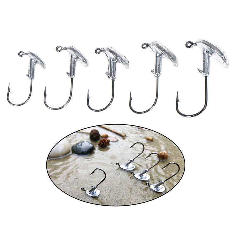 Blood Slot Lead Jig Head Tumbler Fishing Hook 3g 5g 7g 10g 14g Hook for Soft Lure Carbon Steel Fishing hook