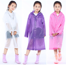 Reusable Children Raincoat Thicken Kids EVA Travel Rain Poncho Rainwear Cover NOT Disposable Waterproof Camping Hooded