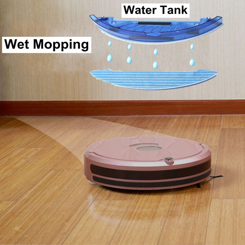 Robot Vacuum Cleaner With Self Charge Wet Mopping 1200 Pa For Thin