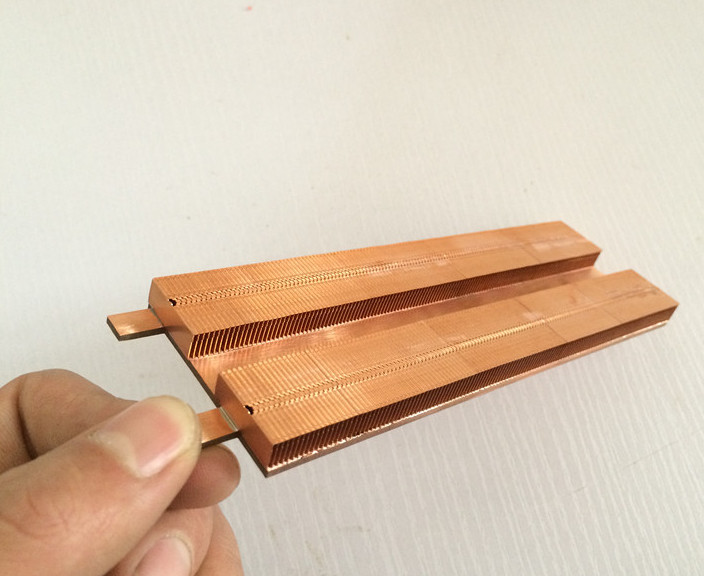 For PC RT-AC68U Router Cooling transformation radiator Custom Thermal conductivity copper tube fin radiator-fan heat dissipation 75 29 3 15 2mm pure copper radiator copper cooling fins copper fin can be diy longer heat sink radiactor fin coliing fin