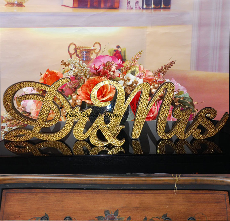 gold glitter mr and mrs wedding signs for sweetheart table decor wooden letters large thick wood mr mrs sign set