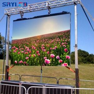 Image 5 - Уличный светодиодный дисплей P4.81 с картой приема Nova Star MRV300 + литой алюминиевый шкаф 500*500 мм сценический уличный светодиодный экран
