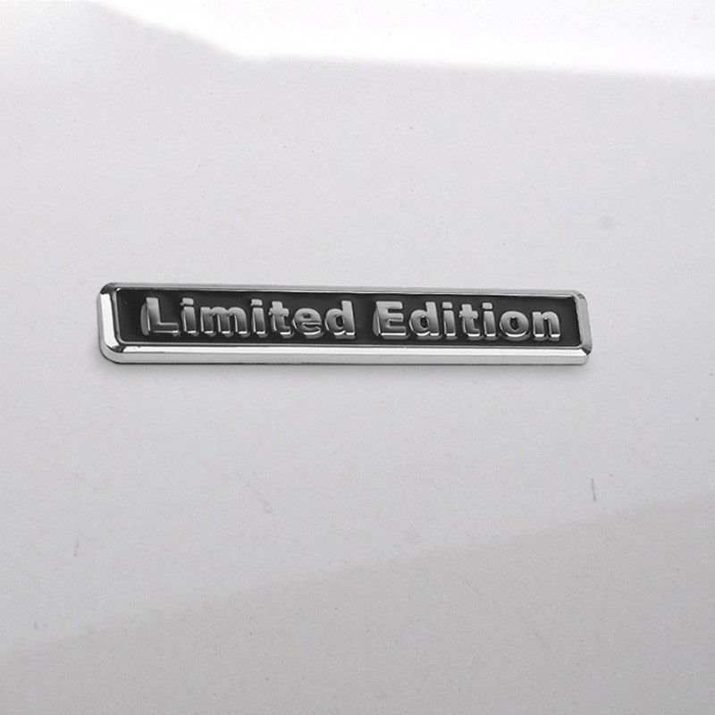 3D Metal Limited Edition Auto Car Sticker Badge Decal Stickers Chrome Emblem for ALL car-styling mayitr metal 3d black limited edition sticker universal car auto body emblem badge sticker decal chrome emblem car styling