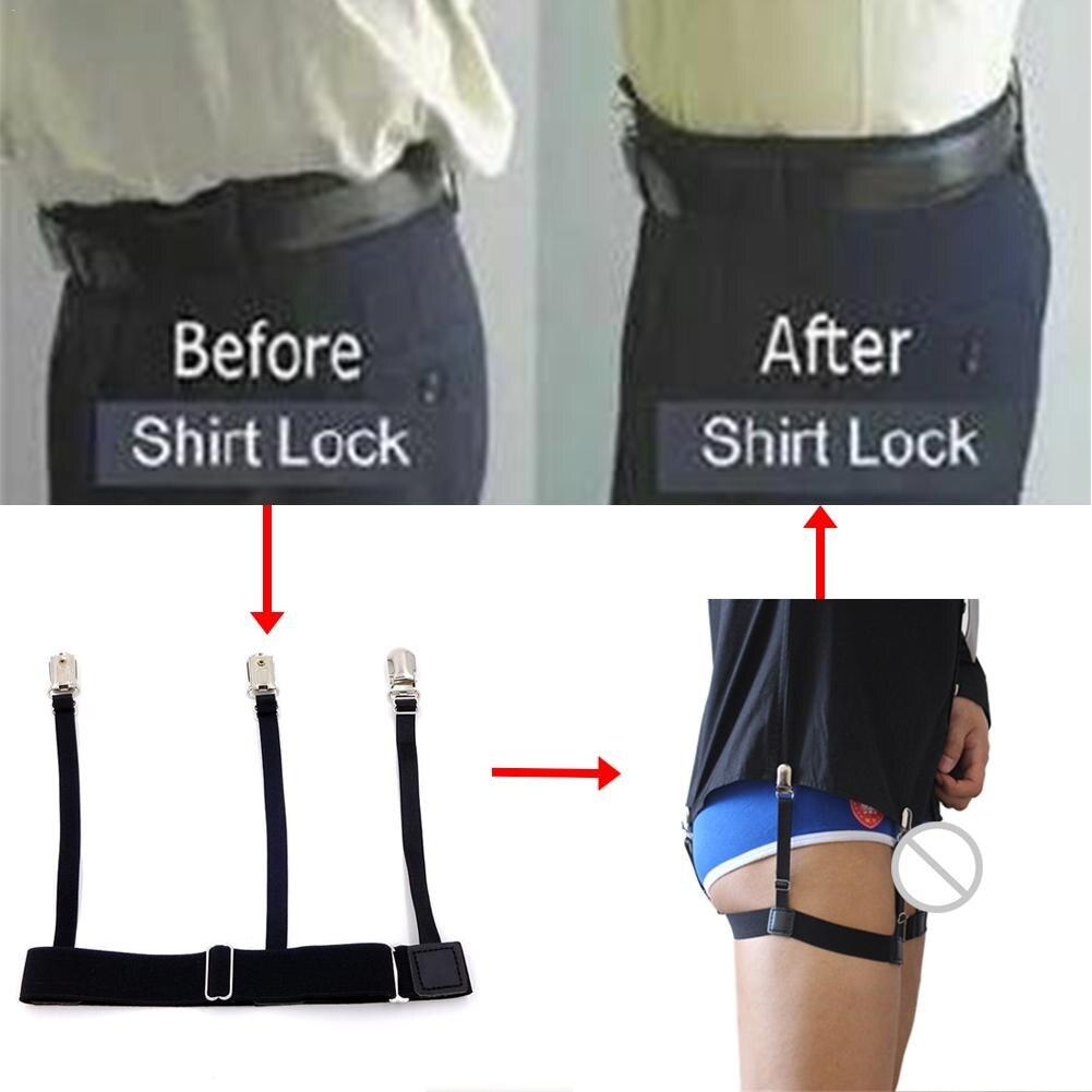 Nice Unisex Business Shirt Stays Garters Leg Belt Suspenders Men Braces For Shirt Holder Tirantes Crease-resistance Sock Stirrup Superior Materials Apparel Accessories Men's Suspenders