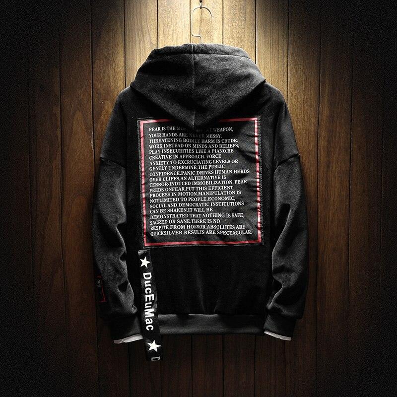 JCCHENFS Pull À Capuche Surdimensionné Hommes Automne Hiver 2018 Marque Sweat À Capuche Hip hop Style Streetwear Casual Hoodies - 5