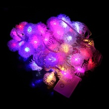 10M 60LEDS Led String Lights 8MODES Snow Ball Post Christmas New Year Wedding Party Bedroom 220v