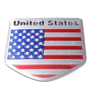 3D металлический стикер с флагом США, логотип машины авто, спортивный знак, хромированные эмблемы, наклейки для стайлинга автомобиля, 5*5 см
