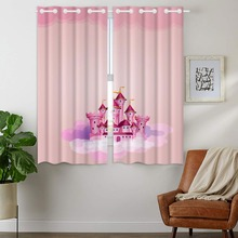 Blackout Curtains 2 Panels Grommet for Bedroom Beautiful Dreamy Pink Castle Princess Dream