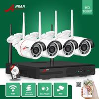 ANRAN Wireless 4CH WIFI NVR 1080 2MP Home Video Security System 1080P Outdoor CCTV 24 IR