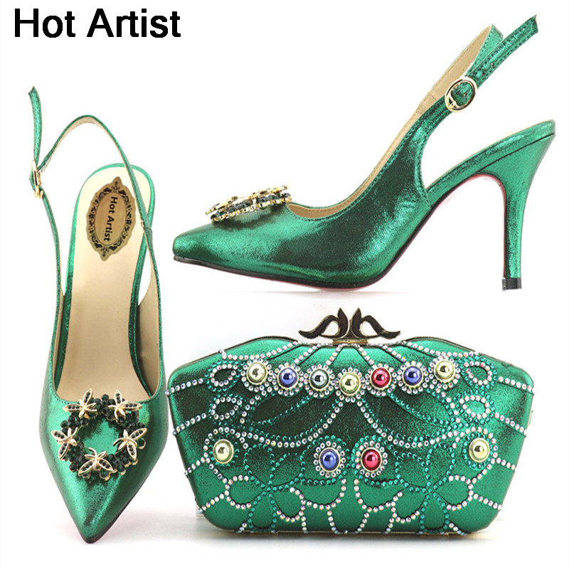 Hot Artist New Design Italian Pretty Shoes And Bag Set African Women Shoes And Matching Bag Set For Wedding Size 38-42 On Stock hot artist new design summer style shoes and bag set african women shoes and matching bag set for wedding size 38 42 me7709