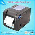 Новый XP-370B Этикетки Принтер Штрих-Кодов Термопринтер Этикеток 20 мм до 80 мм термальный Принтер Штрих-Кода 2 в 1 с печати билл и этикетки