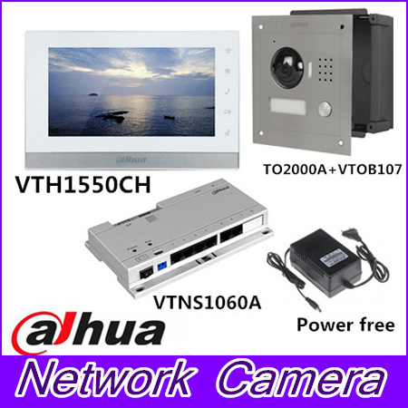 Mutil language 7inch Touch Screen Dahua VTH1550CH Monitor with TO2000A outdoor IP Metal Villa Outdoor Video Intercom sysytem